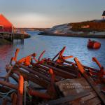 Anchors in the sunrise,  Peggy's Cove